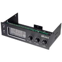 Akasa FC.TRIO AK-FC-07BK 3 Channel Fan Controller with Temperature Monitoring and Alarm