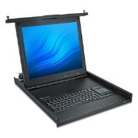 Avocent 1U 17-inch LCD Console Tray with Integrated Digital 8-Port KVM Over IP Switch, USB Keyboard, Touch Pad and USB Pass-through