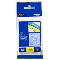 Brother P-touch TZe-521 (9mm x 8m) Black On Blue Gloss Laminated Labelling Tape