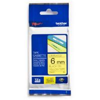 Brother �P-touch TZe-611 (6mm x 8m) Black On Yellow Laminated Labelling Tape