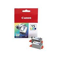 Canon BCI-15BK (Black) Ink Cartridge (Pack of 2) REF 8190A002AA