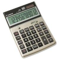 Canon HS-1200TCG Battery/Solar Powered Recycled 12-Digit LCD Display Desktop Calculator (Champagne Gold) at Memory Express