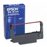 Epson ERC-38 (4,000,000 Characters) Black/Red Fabric Ink Ribbon Cartridge