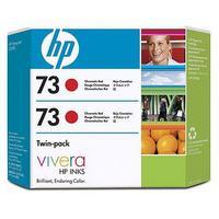 HP 73 Chromatic Red Ink Cartridge (130ml) 2 Pack