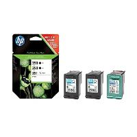 HP Tri-Combo Pack containing 2 x 350 Black Inkjet Print Cartridges + 1 x HP 351 Tri-Colour Inkjet Print Cartridge