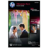 HP Premium Plus (10 x 15cm) Glossy Snapshot Photo Paper (50 Sheets) (White)
