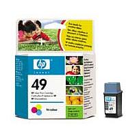 HP 49 (Yield 160 Pages) Tri-Colour Ink Cartridge (11ml) for DeskJet 6xx