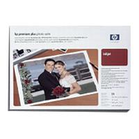 HP Premium Plus (33.0cm x 48.3cm) Satin Photo Paper (25 Sheets) 286gsm for HP Designjet 130/120/30/20 Series Printers