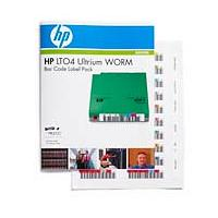 HP LTO-4 Ultrium WORM Bar Code Label Pack